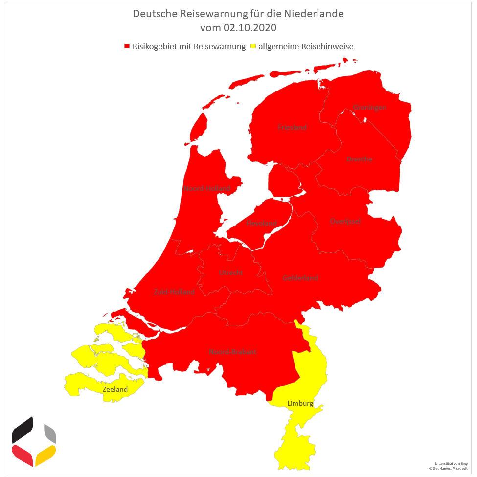 Risikogebiete Holland