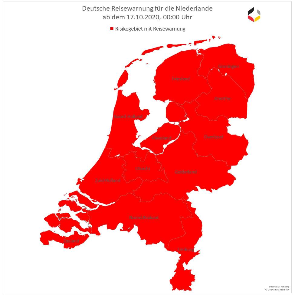 Corona Niederlande Karte